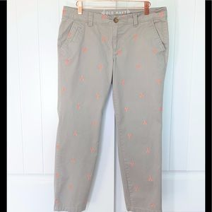 Old Navy tan Khakis with lobsters